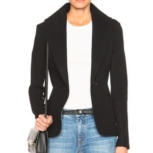 James Perse Shawl Collar Blazer Knit Jacket Black